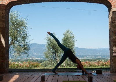 Tuscan Fitness Yoga Deck View