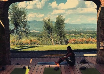 Afternoon on the Tuscan Fitness Yoga Deck
