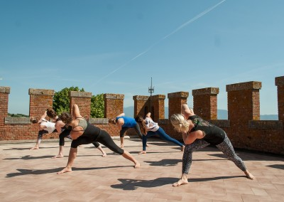 Tuscan Fitness Yoga at Tenuta Lupinari tower