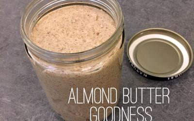 Homemade Maple Almond Butter!